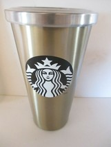 Starbucks 2014 Metal Silver Travel Mug 16 oz. Tumbler Cup - $10.88