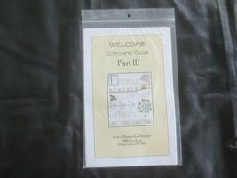Elizabeth's Designs Welcome - Part Iii Cross Stitch Kit w/Thread & Charm - $7.92