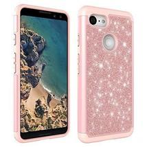 Google Pixel 3 Case, AUMIAU Luxury Glitter Bling Hybrid Dual Layer Heavy Duty - $17.36