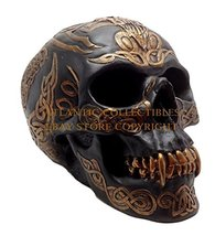 "Ebros Celtic Tribal Knotwork Tattoo Black Ghost Vampire Skull Statue 7"" Long As  - $21.99"
