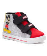 Boys Toddler Child Sneakers Disney Mickey Mouse High Tops Size 10 11 or 12 - £15.50 GBP