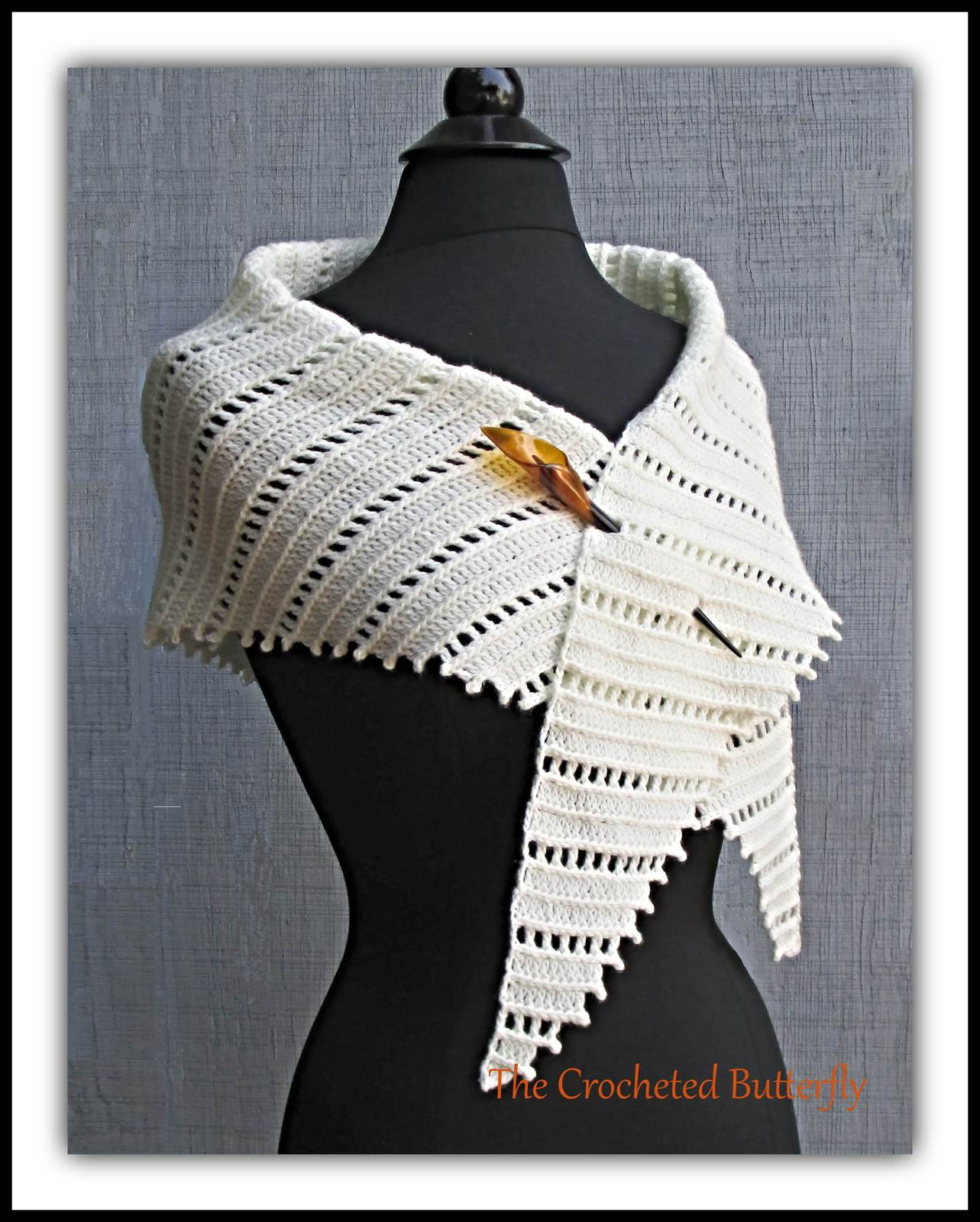 Urban Kerchief, scarf, shawlette, women's fashion, hand made crocheted scarf
