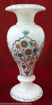 """9"""" Marble Flower Vase Jar Semi Precious Stone Inlay Marquetry Home  Decor Gifts - $356.01"""