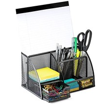 Halter Steel Mesh Desk Organizer Supply Caddy with 6 Compartments and 1 ... - $22.37