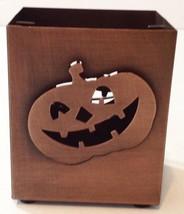 Halloween Metal Pumpkin Spider Candle Holder Decoration By Ganz - $12.86