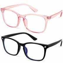 GEKKALE Blue Light Blocking Computer Glasses Square Nerd Eyeglasses Fram... - $16.04