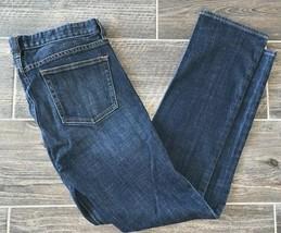 J. Crew Womens Stretch Matchstick Dark Wash Jeans Sz 28R Style # 80280 - $19.77