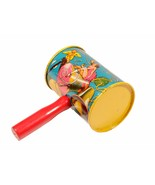 FREE SHIP: Vintage New Year's Eve Metal and Wood Noisemaker - Holiday Decor - $9.50