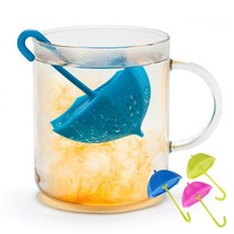 Tea Infuser Umbrella Bags Silicone Reusable Strainer Coffee Herb Filter ... - £2.01 GBP