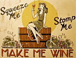 7924.Decoration Poster.Home Room wall interior design.Squeeze Stomp.Make me wine - $11.30+
