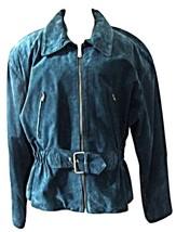 Daniel Marcus Green Suede  ladies Jacket-Vintage/Retro--Canada - $29.00