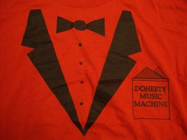 Vintage Doherty Music Machine Tuxedo Classy Fancy Casual Red T Shirt M - $15.14