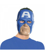 Captain America Vintage Style Ben Cooper Costume Halloween Mask Blue - $20.98