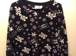 Kat-Nap Black/White/Pink Pajama One Piece w Snowflake Design Sz S