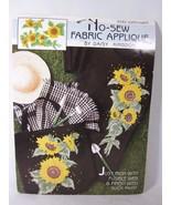 Applique Patchwork Daisy Kingdom No Sew Fabric Sunflower 6282 - $9.89