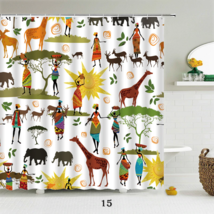 Funny Shower Curtains Bathroom With Hooks Decor Waterproof Bath 180*180cm - $25.00