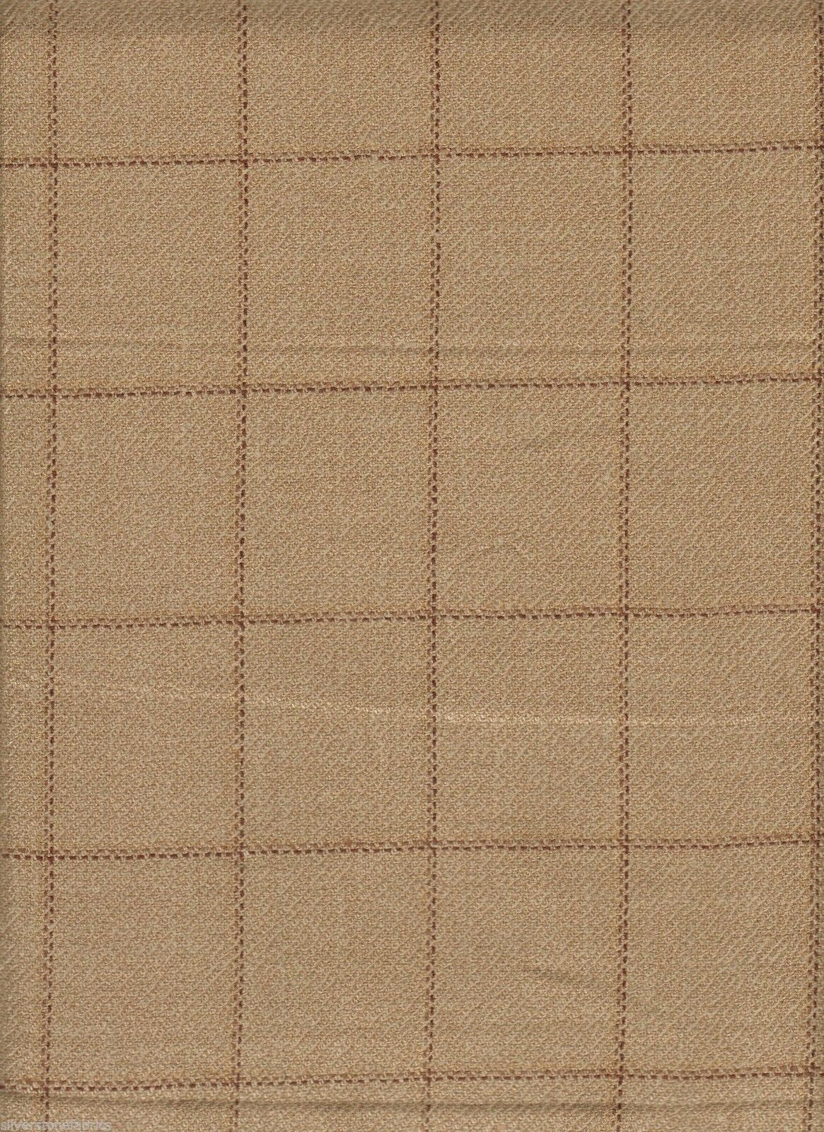 3.25 yds Holland & Sherry Upholstery Fabric Scottish Wool Tweed Plaid Wheat GI2