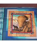 Horse Buffalo Panels Tribal Elements Fabric Pillow Panels 7267 - $10.00