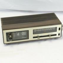 Flip Clock JC Penny Radio 680-3763 Alarm AM FM Parts ONLY - $24.50