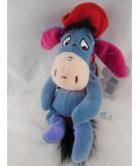 "Disney Store Winnie the Pooh Cowboy Eeyore Bean bag Plush with tags 9"" - $9.00"