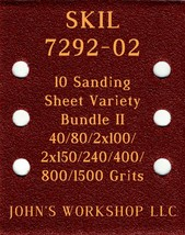 SKIL 7292-02 - 40/80/100/150/240/400/800/1500 - 10pc Variety Bundle II - $12.46