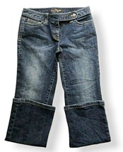Ann Taylor Womens Sz 6P Modern Fit Flip Pocket Jeans Blue BootCut Lindsa... - $17.81