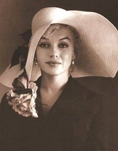 Marilyn Monroe wearing hat lovely unusual glossy new  5 x 7  photo reprint - $1.49
