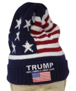 Jacquard Woven Knit MAGA Ski Hat Beanie Donald Trump 2016 W/ out Pom - $89.99