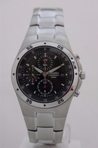 Seiko mens watches chronograph screw crown lumibright hands red subhands... - $166.32