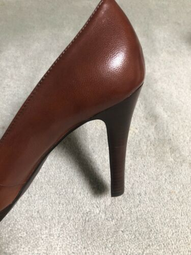 "New Jessica Simpson 8.5 M Brown 5"" Classic Round Toe Stiletto Heels Shoes image 4"