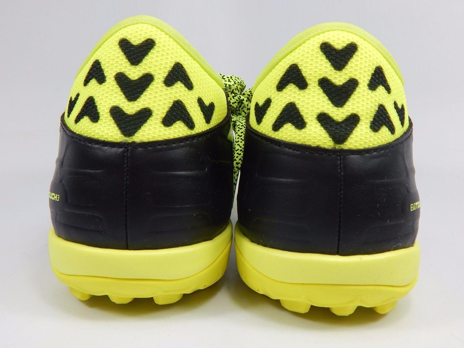 Puma evoTouch 3 TT Men's Soccer Cleats Size US 7.5 M (D) EU 40 Black Yellow