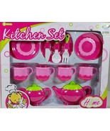 Girls Pink Tea Party Set for 4 My Sweet Home 14 pcs 3+ New - $29.99