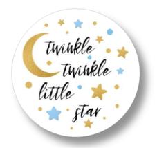 30 Boy Baby Shower Twinkle Twinkle Little Star Stickers labels favors pa... - $8.99