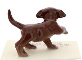 Hagen-Renaker Miniature Ceramic Dog Figurine Chocolate Labrador Sitting with Pup image 5