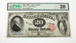 1880 $20 United States Note Fr #144 Graded by PMG as Very Fine 20 - $693.00
