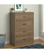 4 Drawer Bedroom Wood Storage Dresser Clothes Chest Drawer Furniture Rus... - $139.97