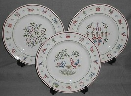 Set (3) Johnson Brothers TWELVE DAYS OF CHRISTMAS PATTERN Dinner Plates ... - $49.49