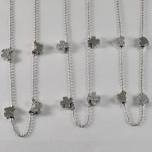 Collar de Plata 925 Jack & Co con Trébol Corazón o Mariposa Largo 45 CM - $109.57