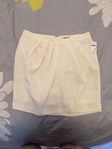 GAP Ivory White Silk Like Pintuck Pleat Mini Skirt Size Small S NWT - $14.75