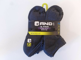 AND1 Grey 12 Pair ProPlatinum Low Cut Ankle Socks Arch Compression Gray - $29.95