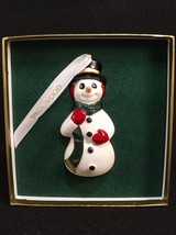 Wedgwood Snowman Christmas Ornament England  Porcelain Decoration Boxed ... - $29.69