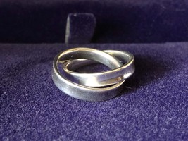 100% AUTH Tiffany & Co. Interlocking Circles Ladies Ring 925 Sterling Silver image 8