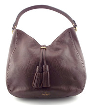 KATE SPADE Brown Pebble Hobo Shoulder Bag w/ Tassel - €147,97 EUR