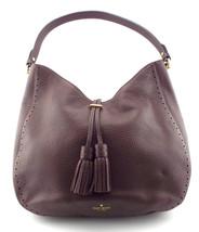KATE SPADE Brown Pebble Hobo Shoulder Bag w/ Tassel - ₨12,561.39 INR