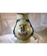Handarbeit  Woschbach Coat Of Arms German Stoneware Beer Wine Pitcher Gr... - $18.89