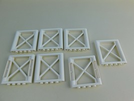 Lot of 7 White 1x6X5 Support Girders #64448 Authentic - $7.91