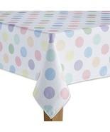 Celebrate Spring Together Easter Polka Dot Print Oblong Tablecloth Multi... - $40.28