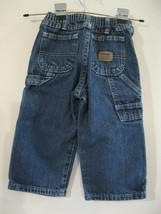 Wrangler Boys Carpenter Elastic Waist Denim Blue Jeans size 2T - $8.45