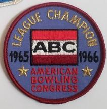 American Bowling Congress ABC League Champion 1965-1966 Patch - $4.95
