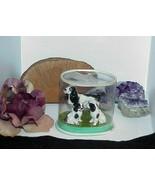 3 English Dog Springer Spaniel Porcelain Miniature Pointer Figurine Mom ... - $34.64